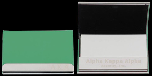 Alpha Kappa Alpha AKA Business Card Holder- Green