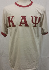 Kappa Alpha Psi Ringer T-shirt-Cream