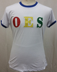 Order of the Eastern Star OES Ringer T-shirt-White