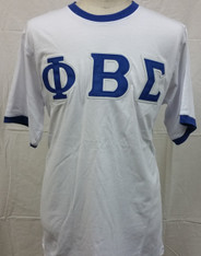 Phi Beta Sigma Fraternity Ringer T-shirt-White