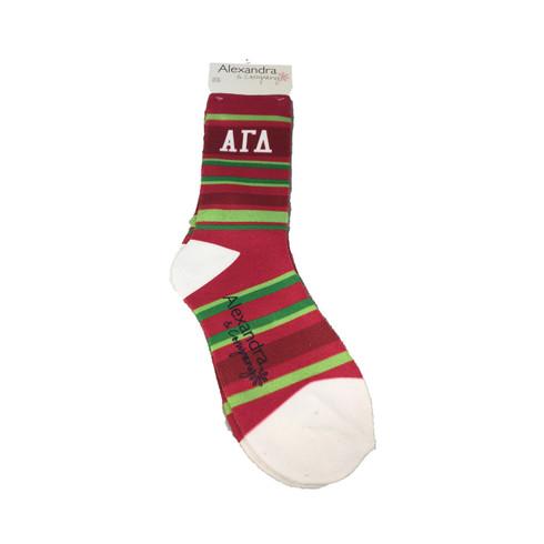 Alpha Gamma Delta Sorority Crew Socks