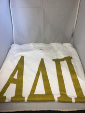 Alpha Delta Pi ADPI Sorority T-Shirt- White