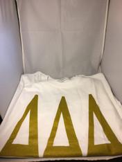 Delta Delta Delta Tri-Delta Sorority T-Shirt- White