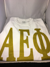 Alpha Epsilon Phi AEPHI Sorority T-Shirt- White