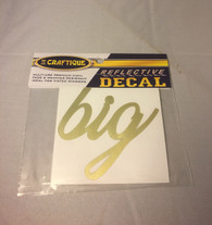 Big Metallic Gold Reflective Decal