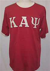 Kappa Alpha Psi Ringer T-shirt-Crimson