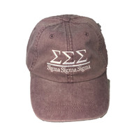 Sigma Sigma Sigma Tri-Sigma Sorority Hat- Wild Plum