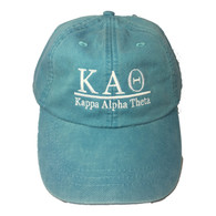 Kappa Alpha Theta Sorority Hat- Caribbean Blue