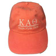 Kappa Alpha Theta Sorority Hat- Coral