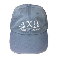 Alpha Chi Omega Sorority Hat- Periwinkle