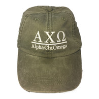 Alpha Chi Omega Sorority Hat- Olive