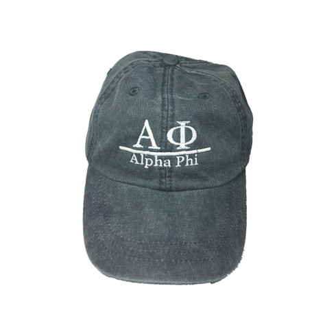Alpha Phi Sorority Hat- Midnight Blue