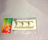 Sigma Sigma Sigma Tri-Sigma Sorority Metallic Gold Letters