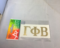 Gamma Phi Beta Sorority Metallic Gold Letters