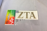 Zeta Tau Alpha Sorority Metallic Gold Letters