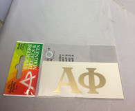 Alpha Phi Sorority Metallic Gold Letters