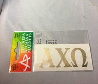 Alpha Chi Omega Sorority Metallic Gold Letters