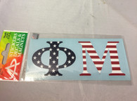Phi Mu Sorority USA Car Letters- American Flag Pattern