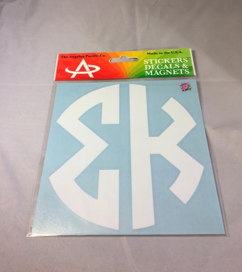 Sigma Kappa Sorority Monogram Car Decal