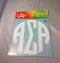 Alpha Sigma Alpha Sorority Monogram Car Decal