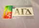 Alpha Gamma Delta Sorority Metallic Gold Letters