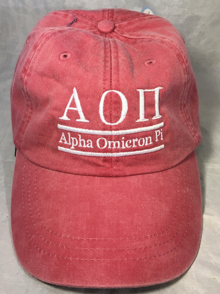 Alpha Omicron Pi AOPI Sorority Hat- Nautical Red