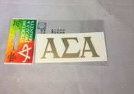 Alpha Sigma Alpha Sorority Metallic Gold Letters