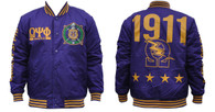 Omega Psi Phi Fraternity Lightweight Jacket- Purple