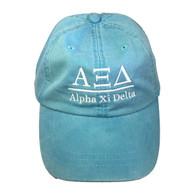 Alpha Xi Delta Sorority Hat- Caribbean Blue