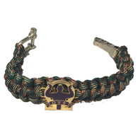 Omega Psi Phi Fraternity Survival Paracord Bracelet-Camouflage