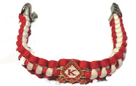 Kappa Alpha Psi Fraternity Survival Paracord Bracelet with Symbol