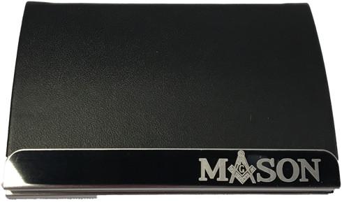 Mason Masonic Business Card Holder-Black