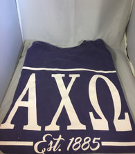 Alpha Chi Omega Sorority Long Sleeve Comfort Colors Shirt- Grape