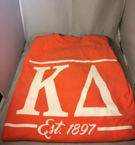 Kappa Delta Sorority Long Sleeve Comfort Colors Shirt- Salmon