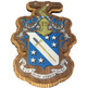 Phi Delta Theta Fraternity Raised Wood Crest