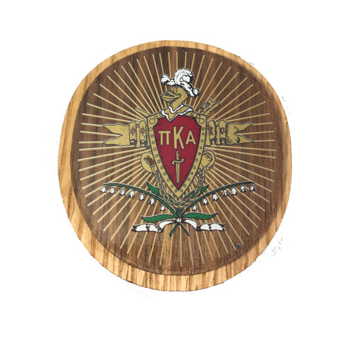 Pi Kappa Alpha Pike Fraternity Raised Wood Crest Brothers And
