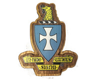 Sigma Chi Fraternity Raised Wood Crest