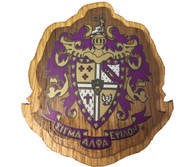 Sigma Alpha Epsilon SAE Fraternity Raised Wood Crest