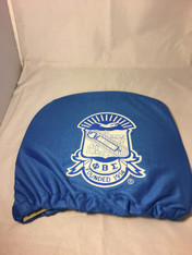 Phi Beta Sigma Fraternity Headrest Cover-Blue-Set of 2