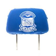 Phi Beta Sigma Fraternity Headrest Cover-Blue-Set of 2