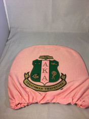 Alpha Kappa Alpha AKA Headrest Cover-Pink-Set of 2