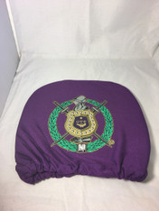 Omega Psi Phi Fraternity Headrest Cover- Set of 2-Front