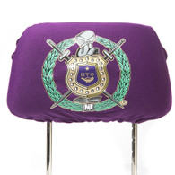 Omega Psi Phi Fraternity Headrest Cover- Purple- Set of 2