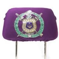Omega Psi Phi Fraternity Headrest Cover- Purple- Set of 2