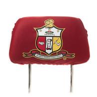 Kappa Alpha Psi Fraternity Headrest Cover- Crimson- Set of 2