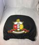Kappa Alpha Psi Fraternity Headrest Cover- Black- Set of 2-Front