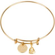 Sigma Sigma Sigma Sorority Expandable Bracelet- Gold