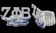 "Zeta Phi Beta Sorority ""Stretch"" Ring"