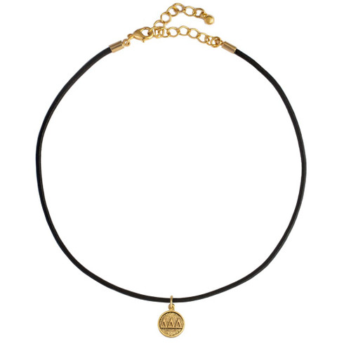 Delta Delta Delta Tri-Delta Sorority Choker Necklace