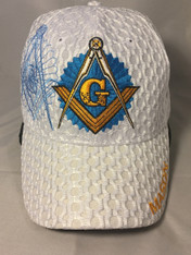 Mason Masonic Hat-White